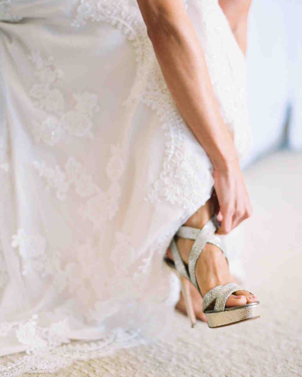 Silver Heeled Wedding Sandals