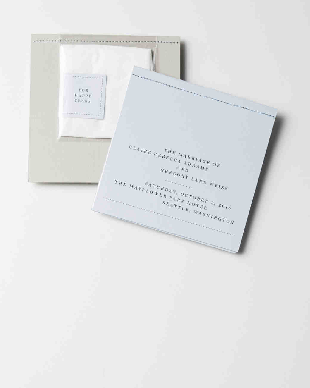 Handy Hankie Wedding Programs