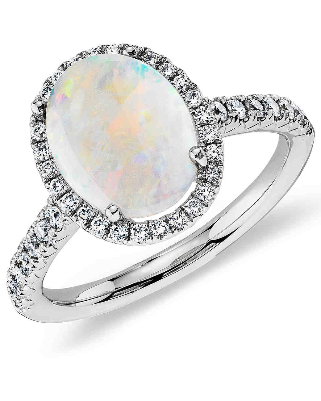 opal engagement rings that are oh so dreamy martha stewart weddings - Opal Wedding Ring