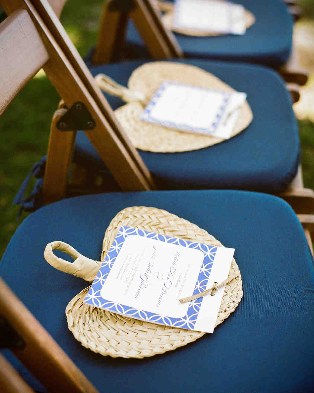 Ceremony Program Woven Fan