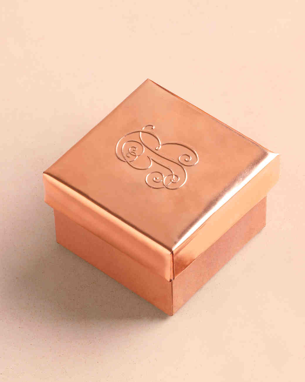 Embossed Copper Ring Box