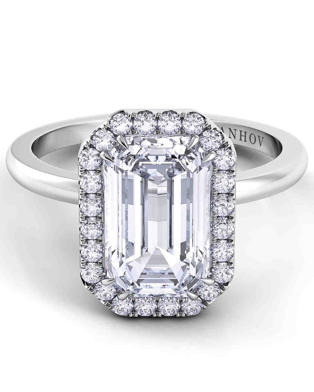 Danhov Emerald-Cut Engagement Ring