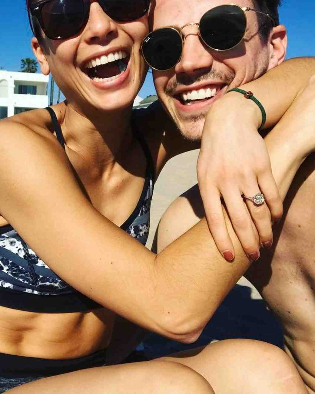 Grant Gustin and LA Thoma share Instagram engagement announcement