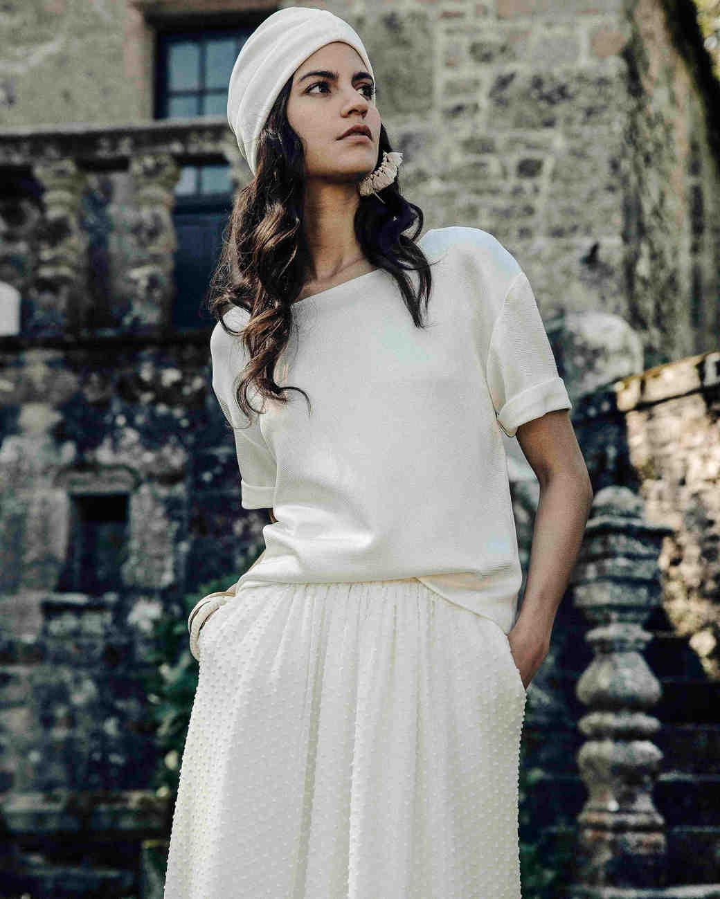 Laure de Sagazan Wedding shirt and short sleeve top
