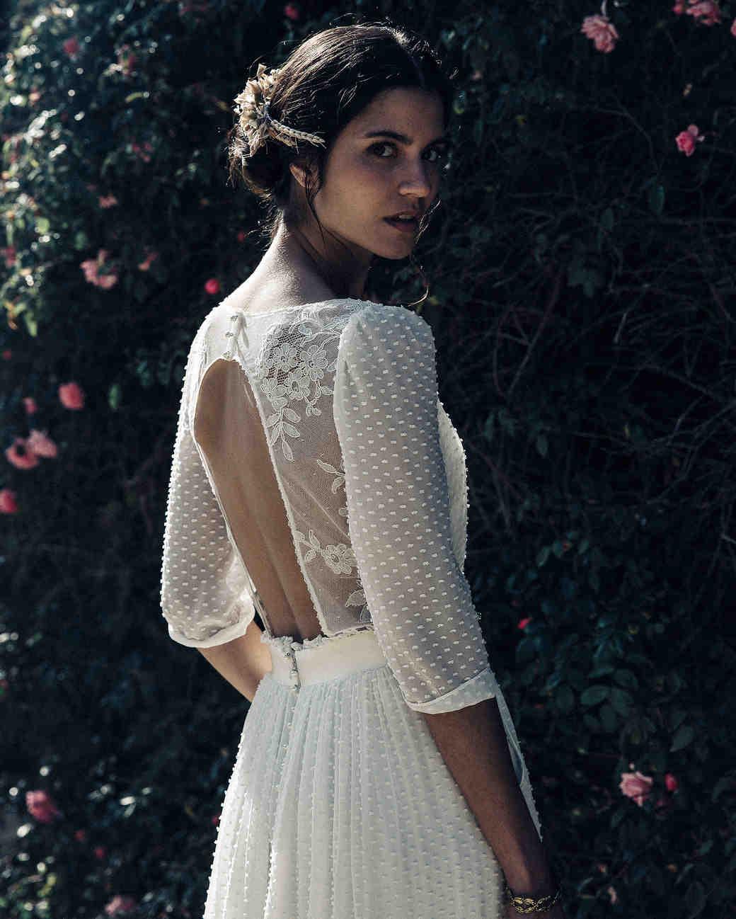 Laure de Sagazan Wedding lace Dress with open back