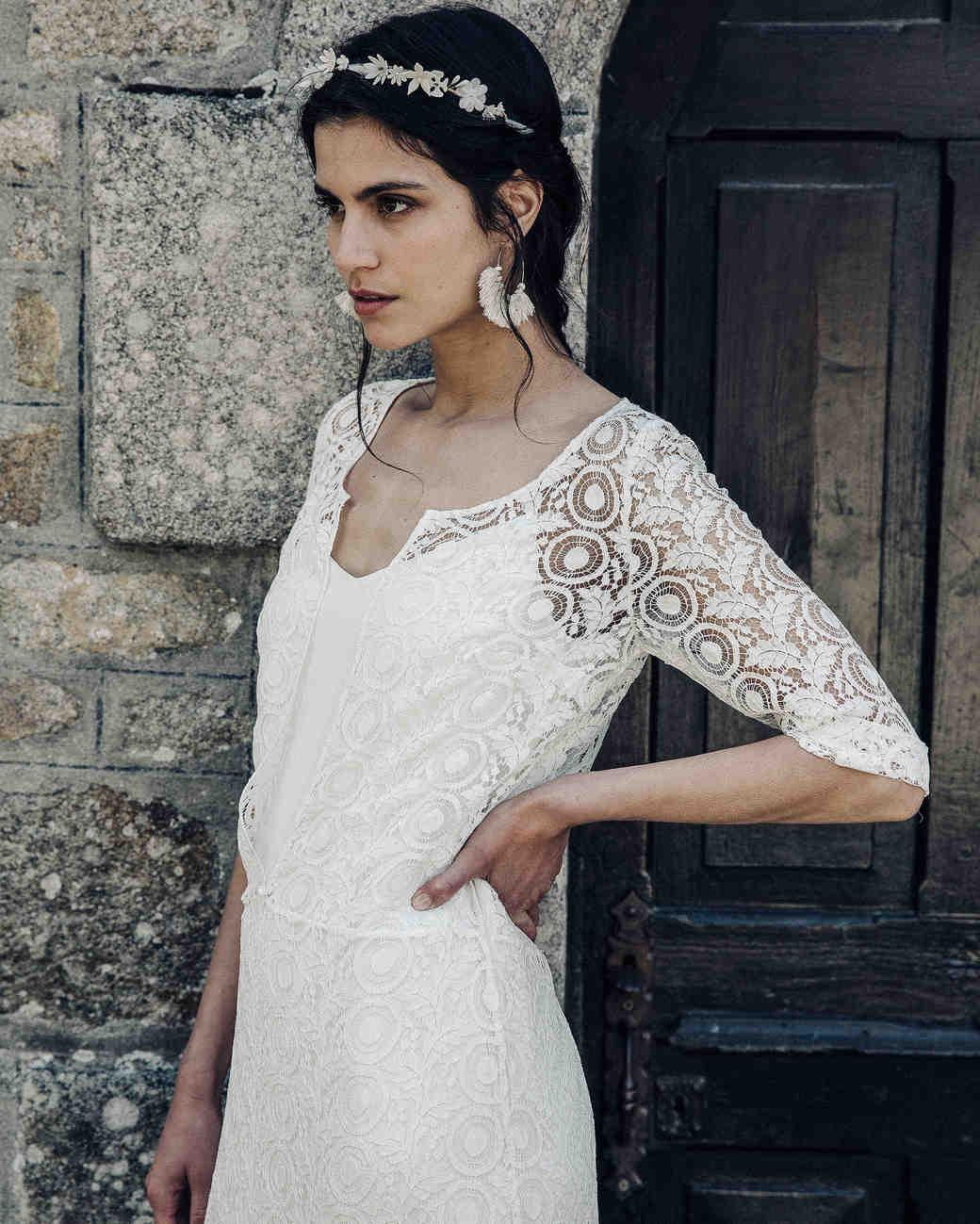 Laure de Sagazan lace Wedding Dress Spring 2018
