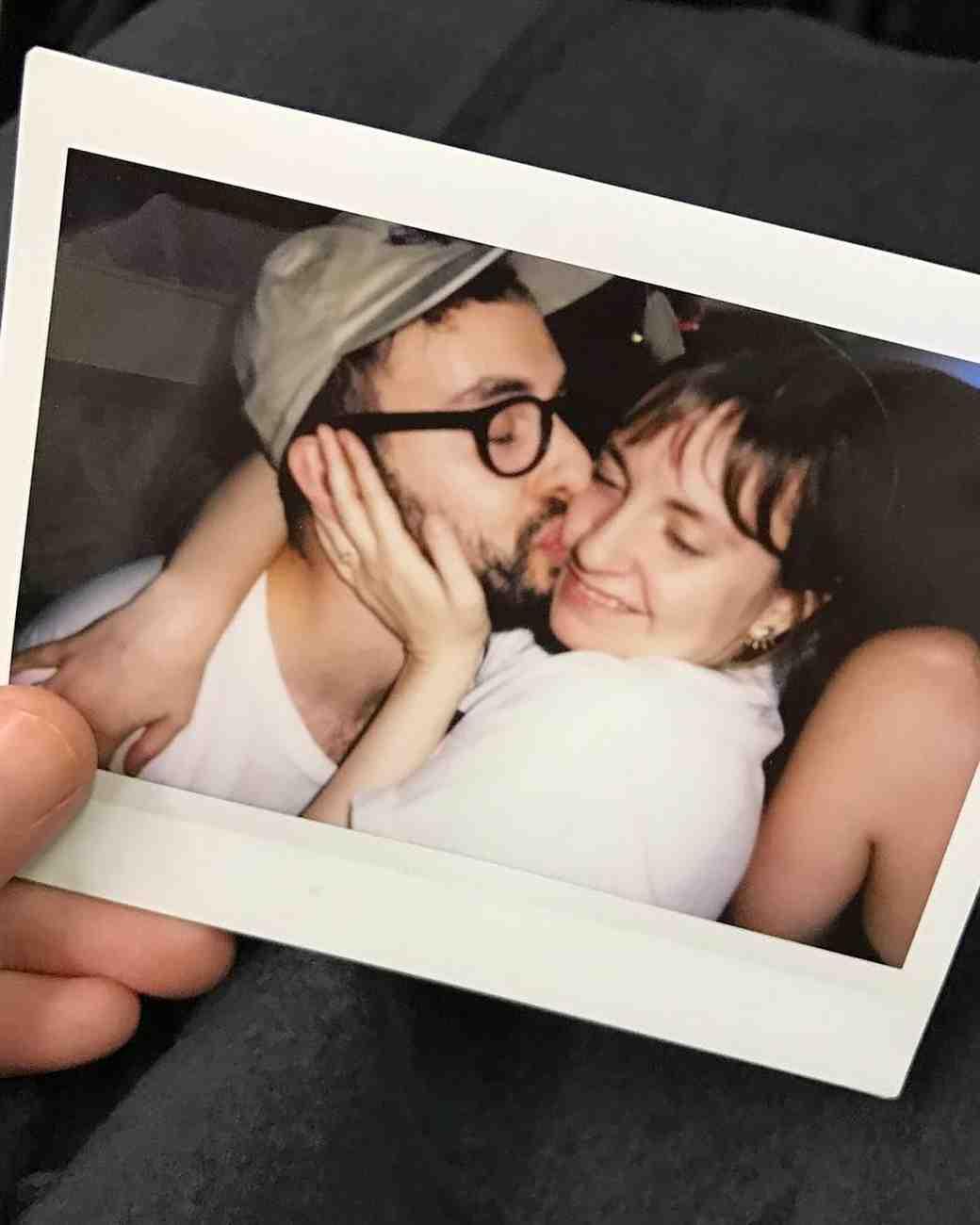 Lena Dunham and Jack Antonoff Polaroid Photograph