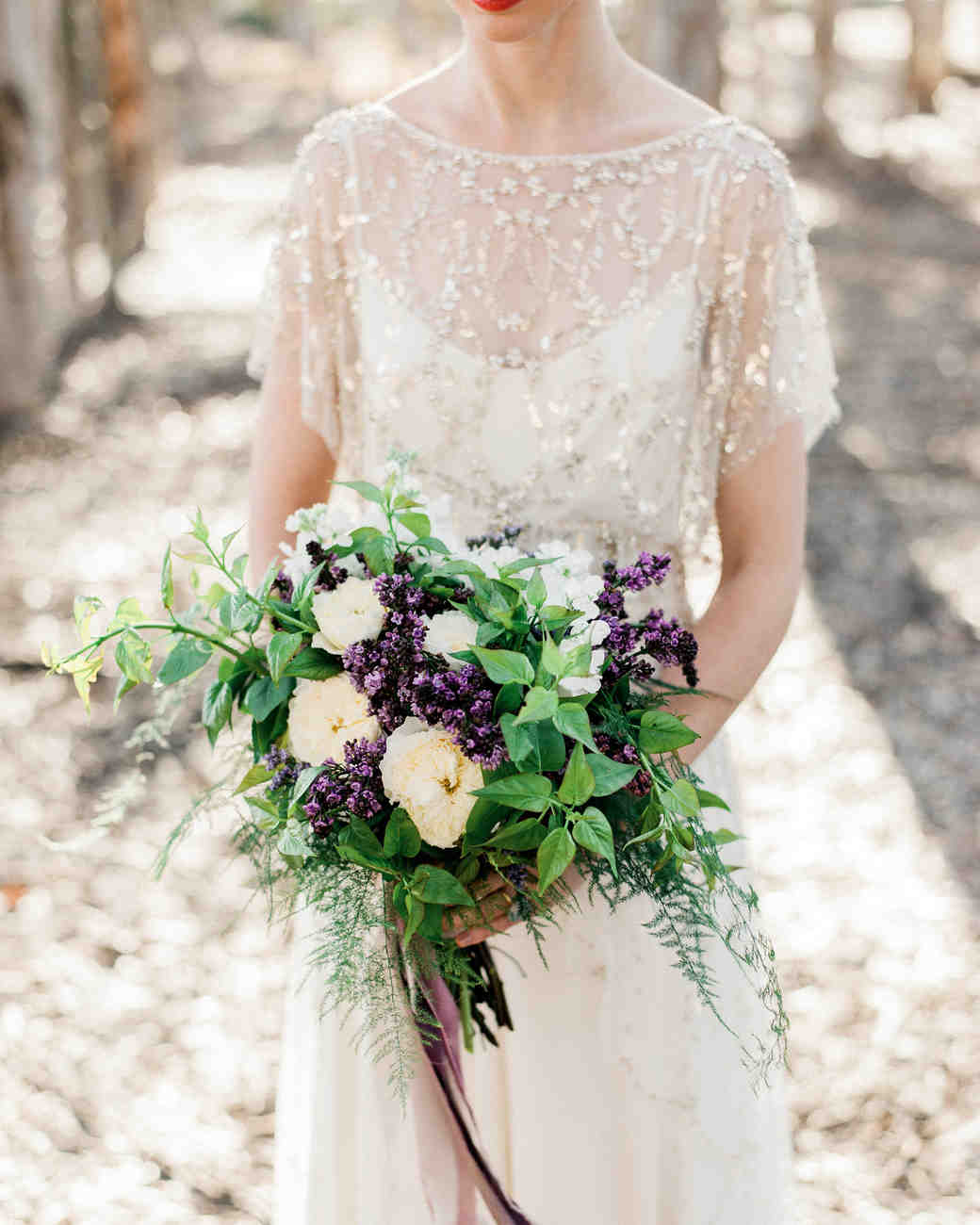 Light Yellow and Purple Lilac Bouquet
