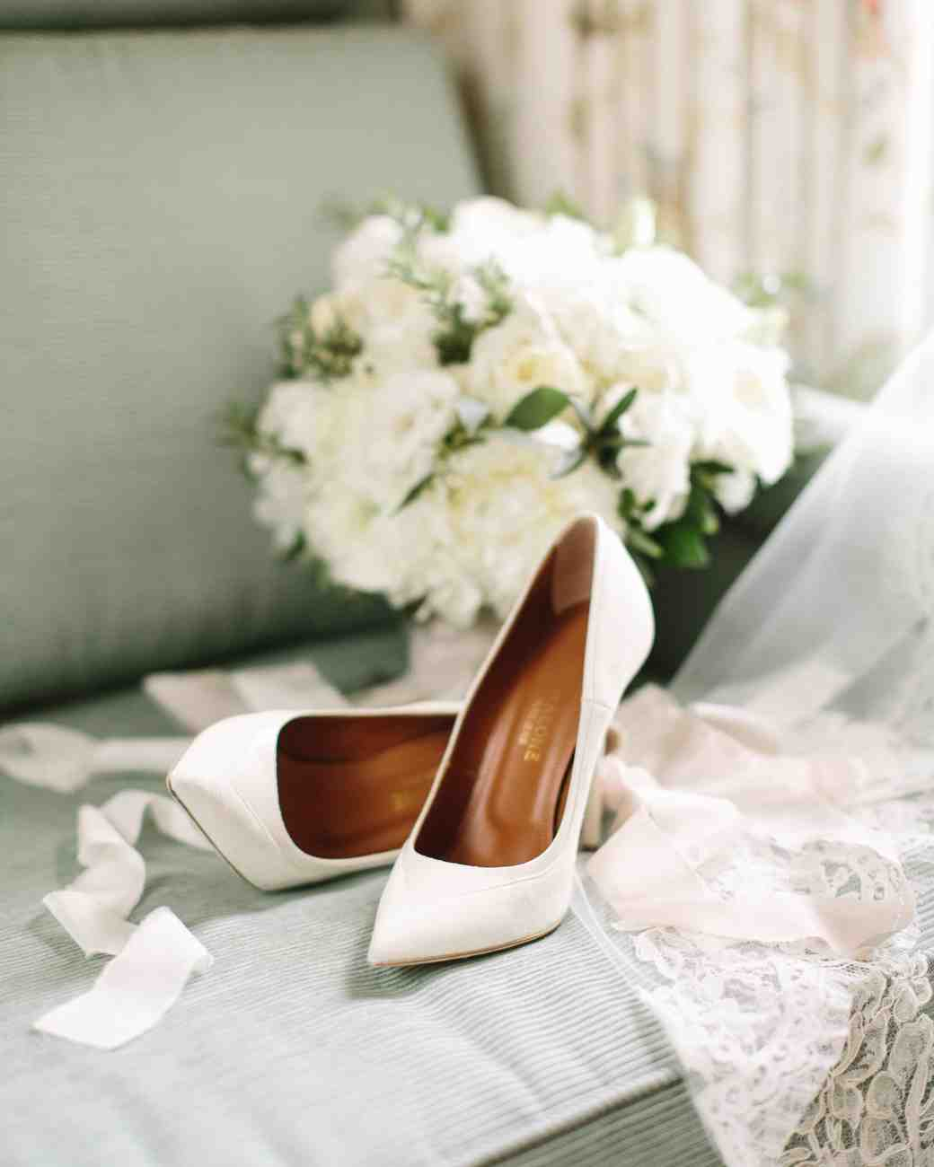 White Pointed-Toe Heels