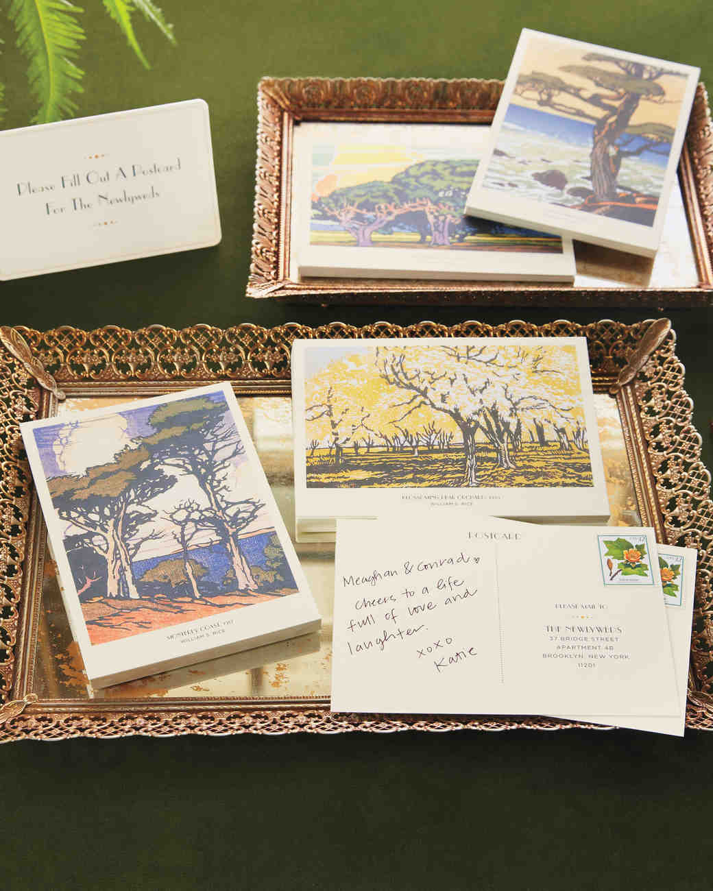 Woodcut Guest Postcards