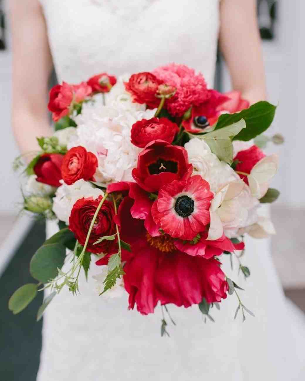 Red Garden Rose Bouquet 41 stunning ranunculus wedding bouquets | martha stewart weddings