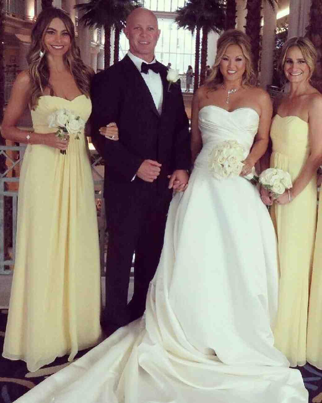 Sofia Vergara served as a bridesmaid at her friend's wedding