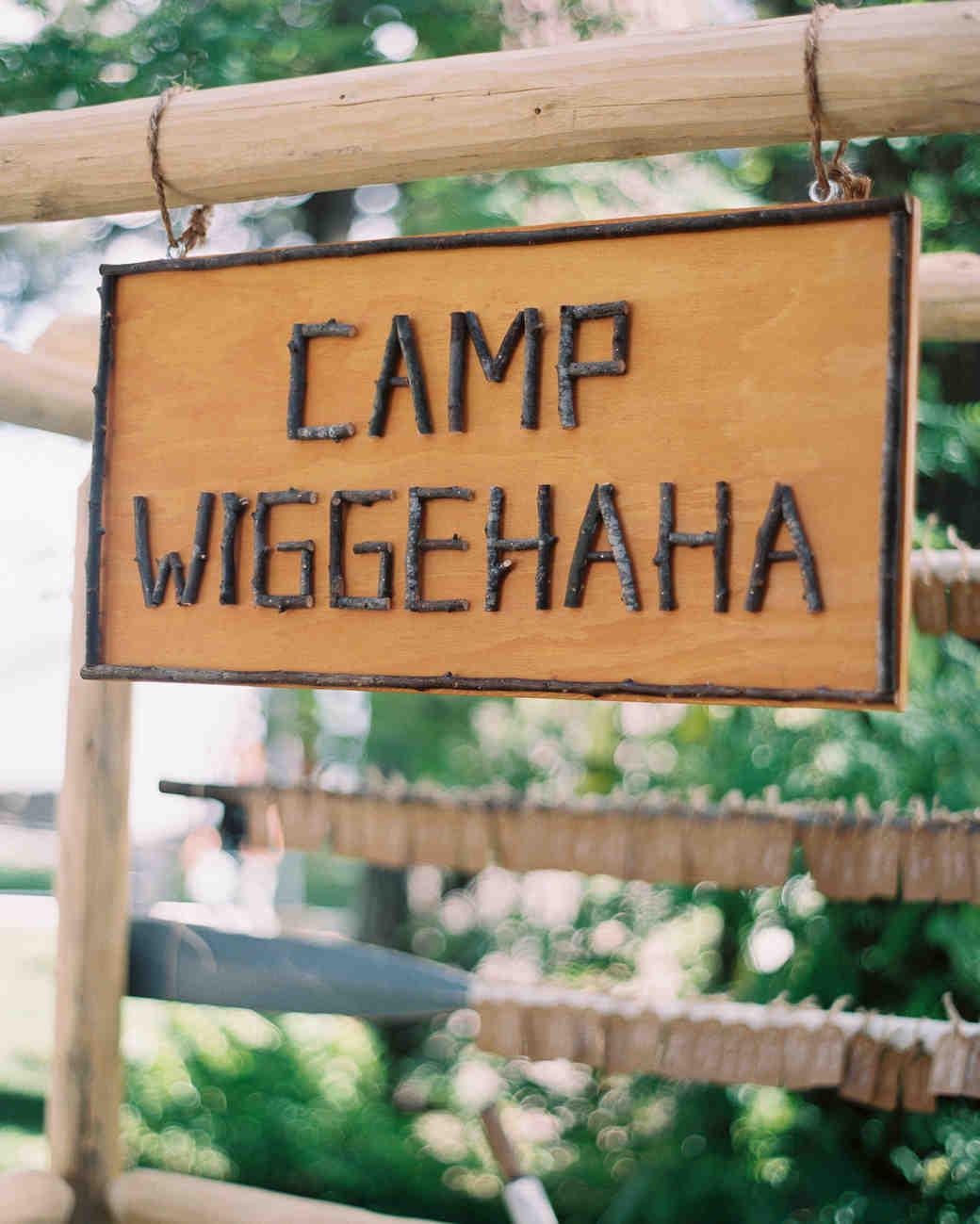 wedding venue sign