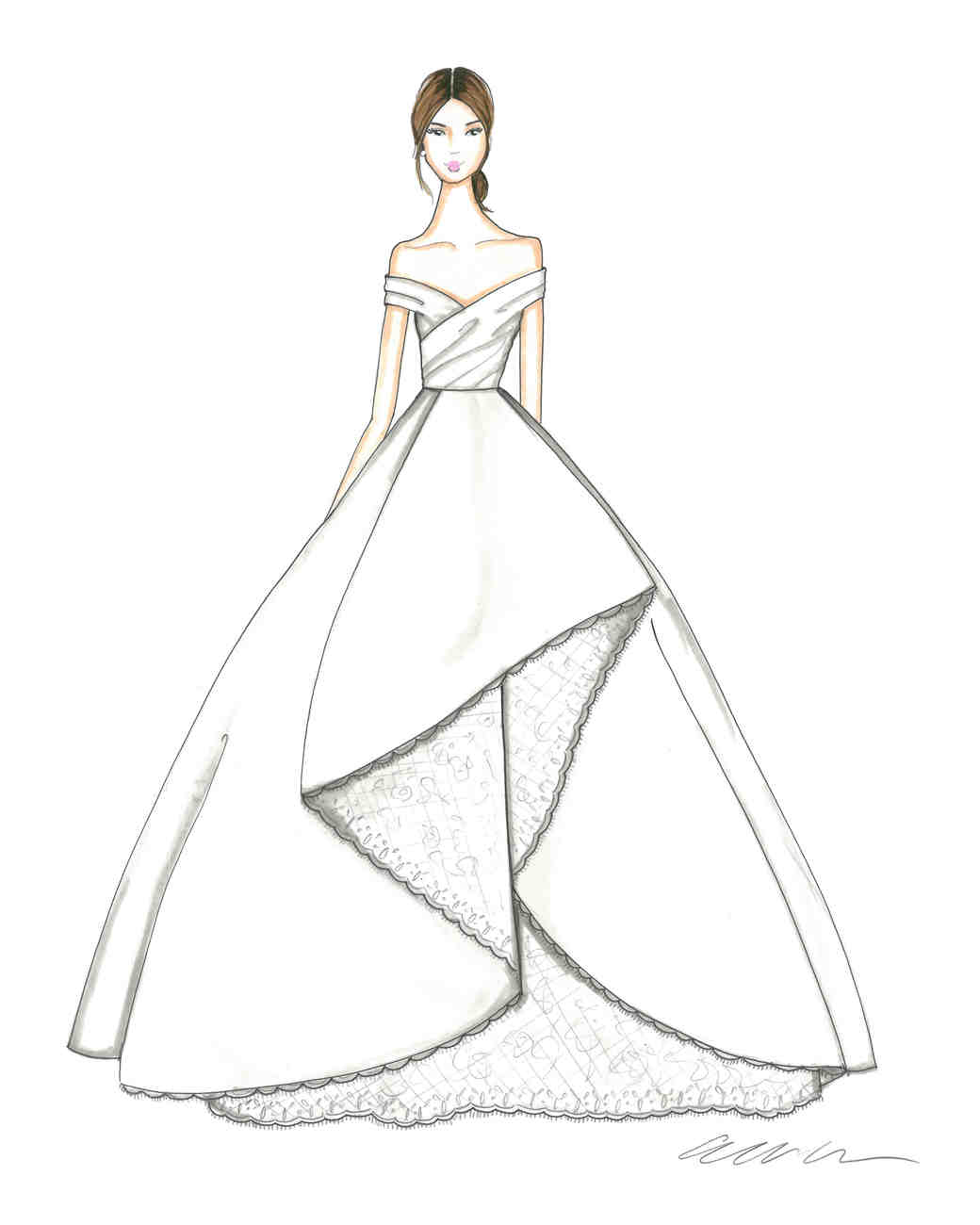Ball gown fashion sketches 77