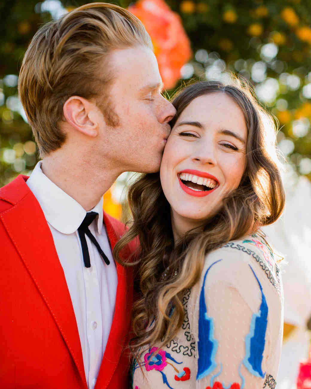 Brides Who Said Yes to a Bold Lip