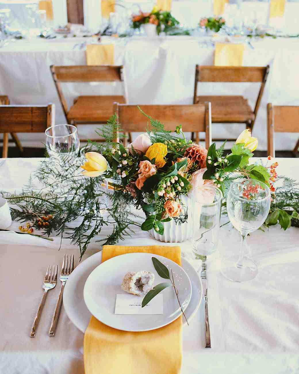 Geode Wedding Table Setting