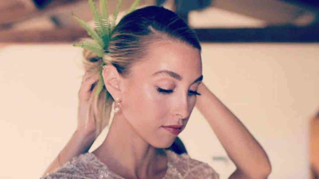 Whitney Port wedding hair
