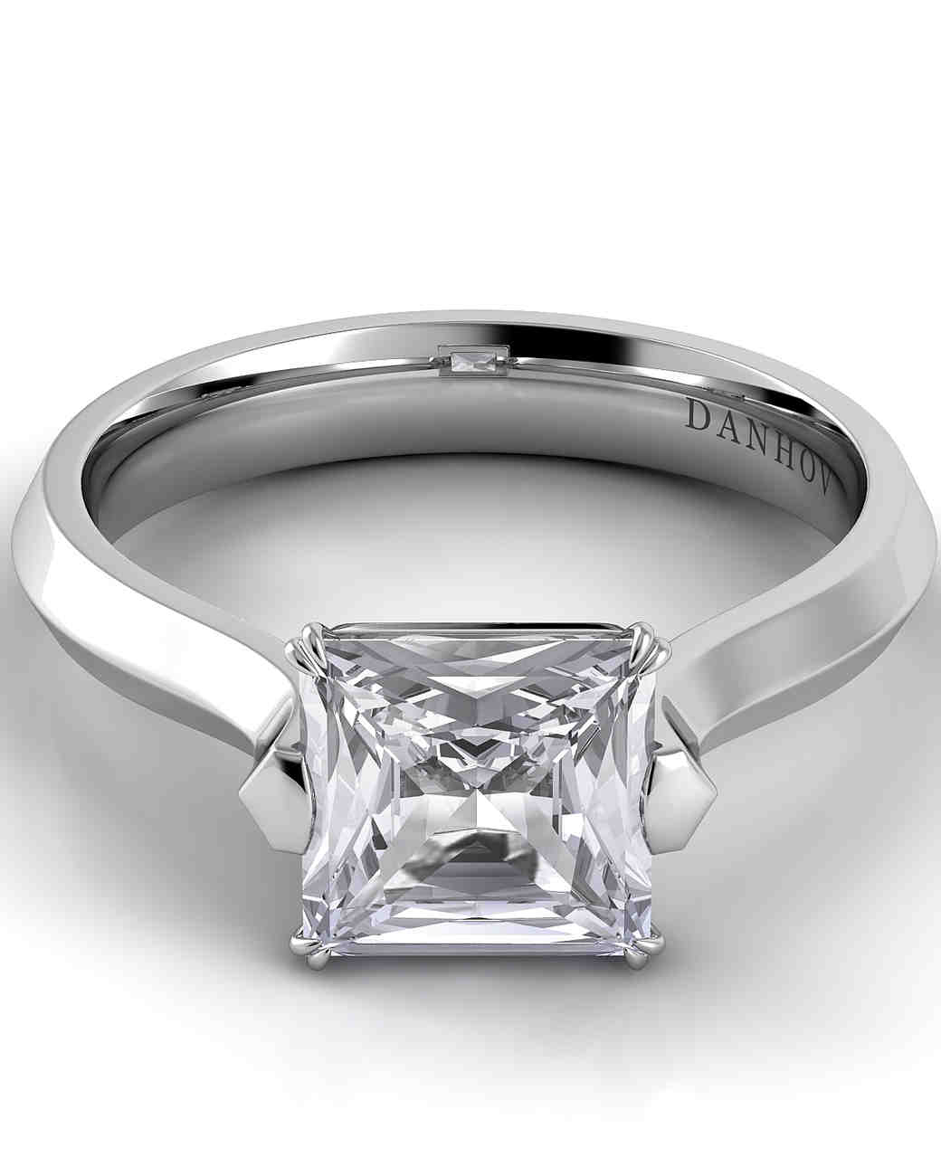 Danhov Princess-Cut Engagement Ring