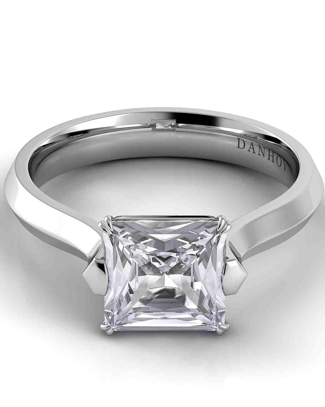 Danhov Princess-Cut Engagement Ring