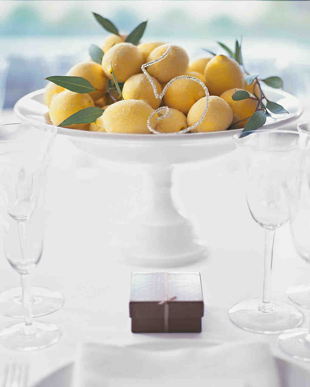 Sugared Lemon Wedding Centerpiece