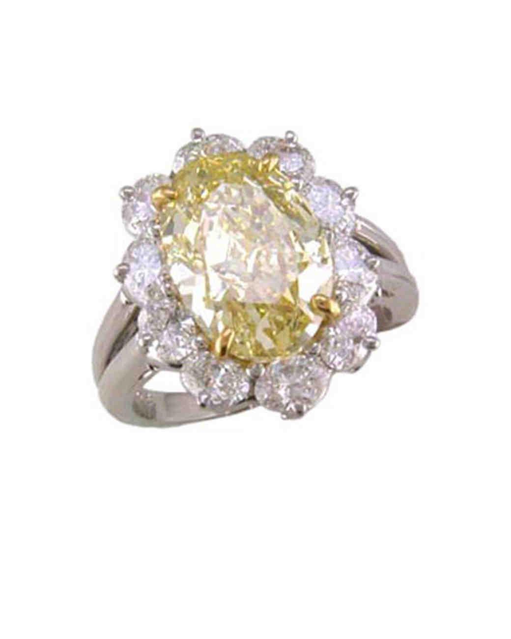 Oscar Heyman White Gold Engagement Ring