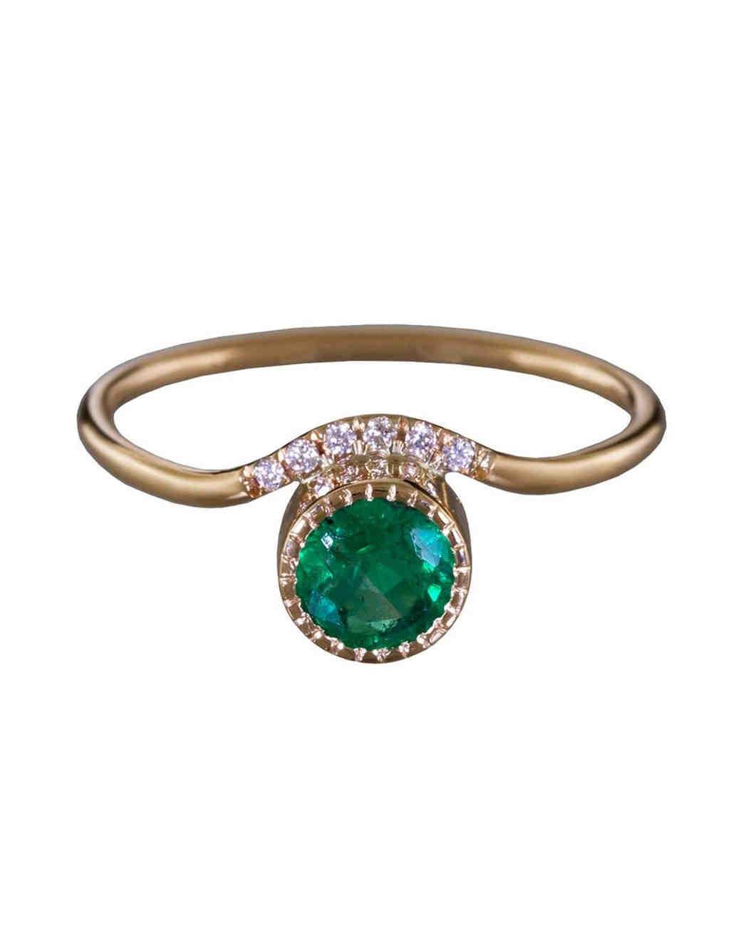 Jennie Kwon Emerald Engagement Ring