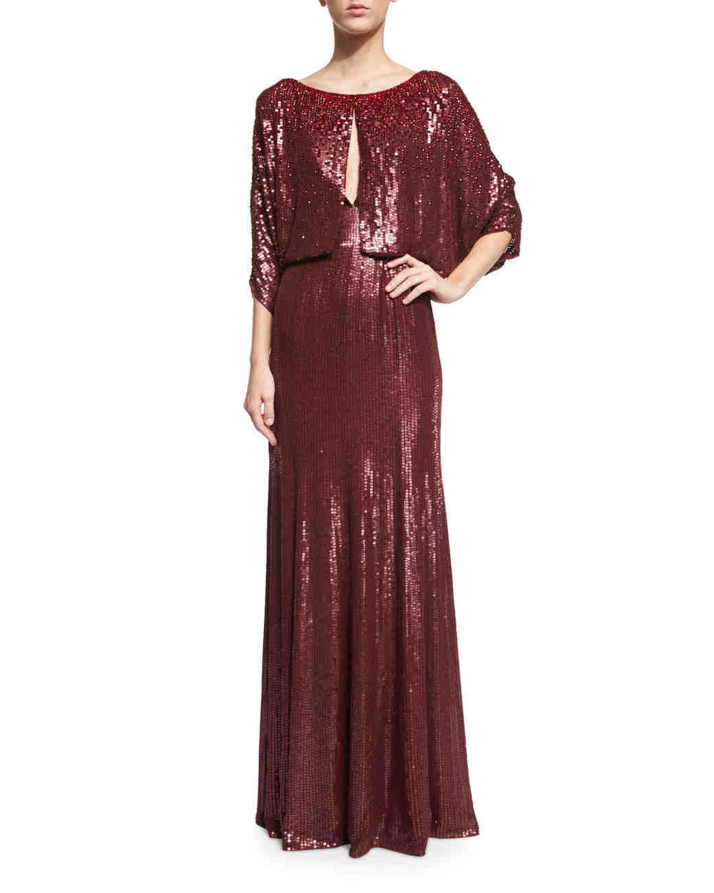 Red Sequined Gown