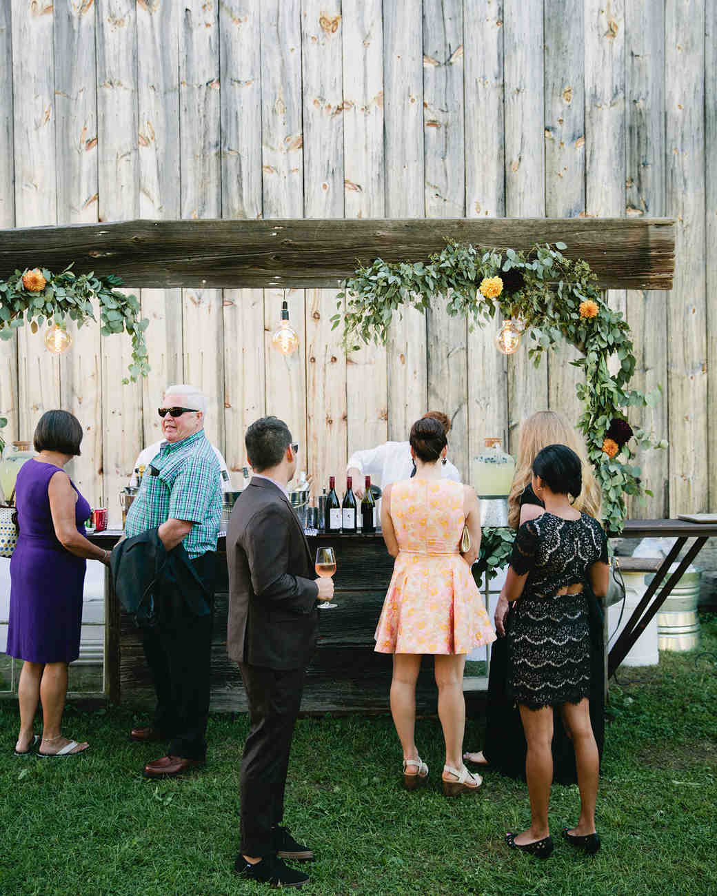 Rustic Wooden Wedding Bar