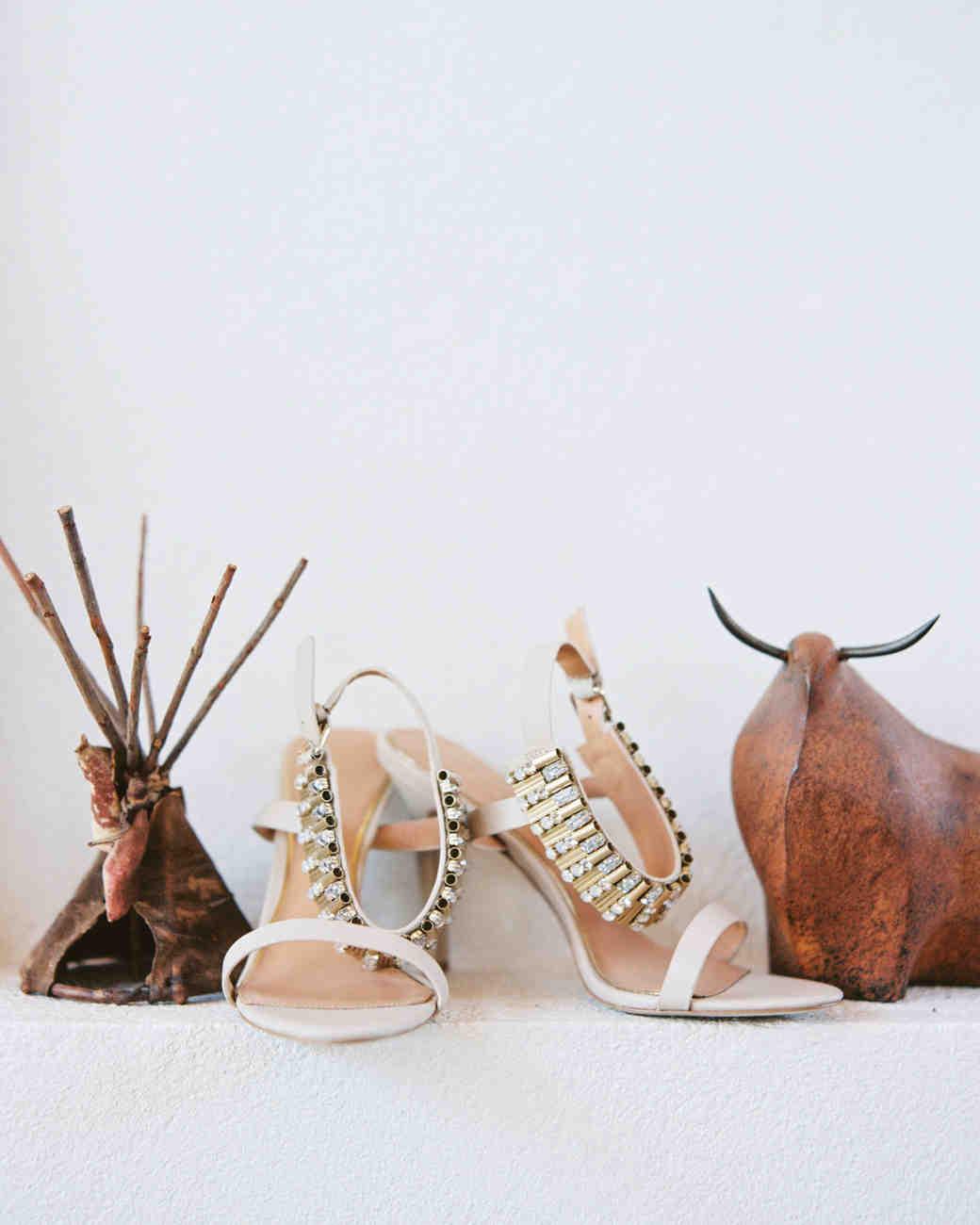 Metal Heeled Sandals