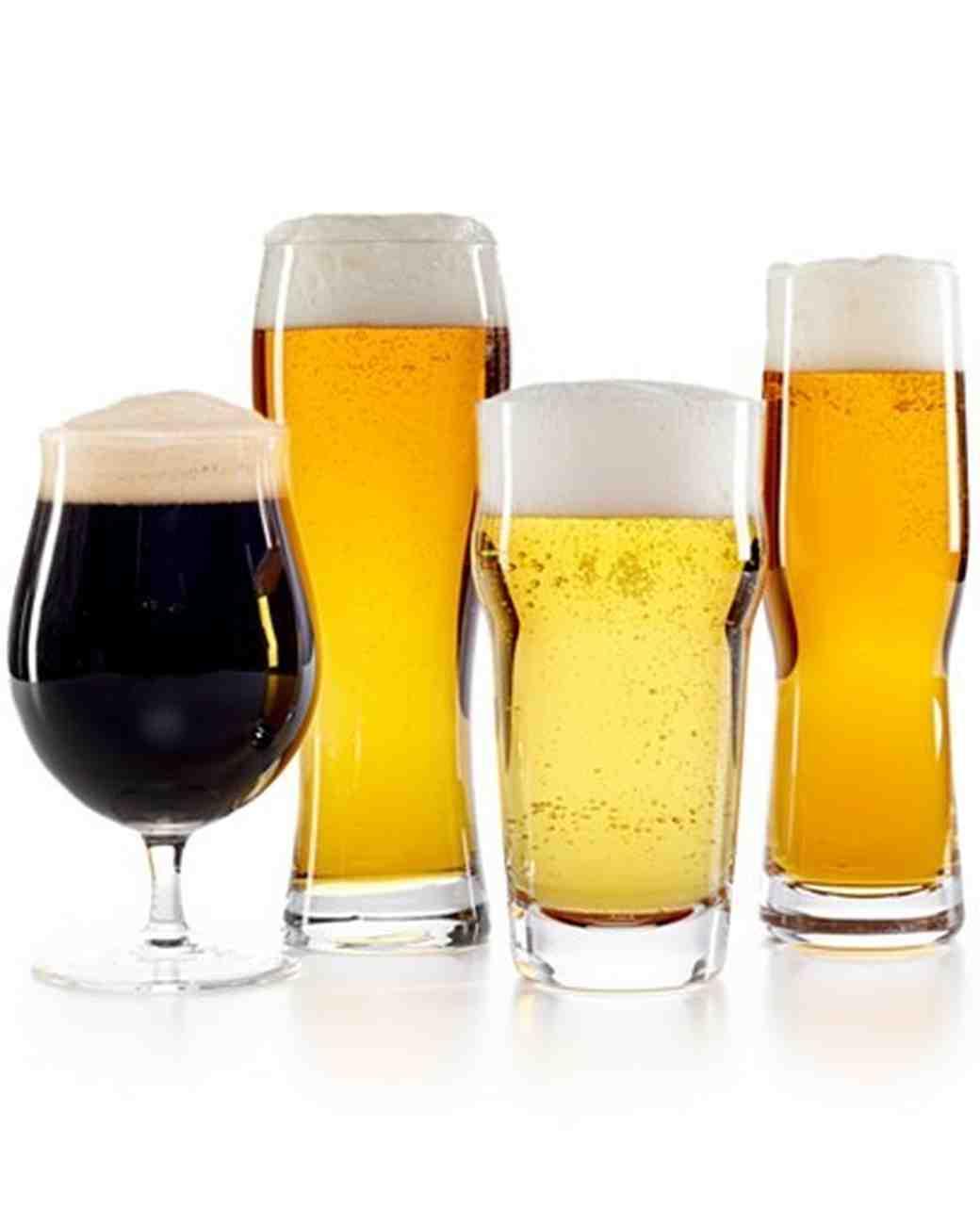 assorted beer glasses