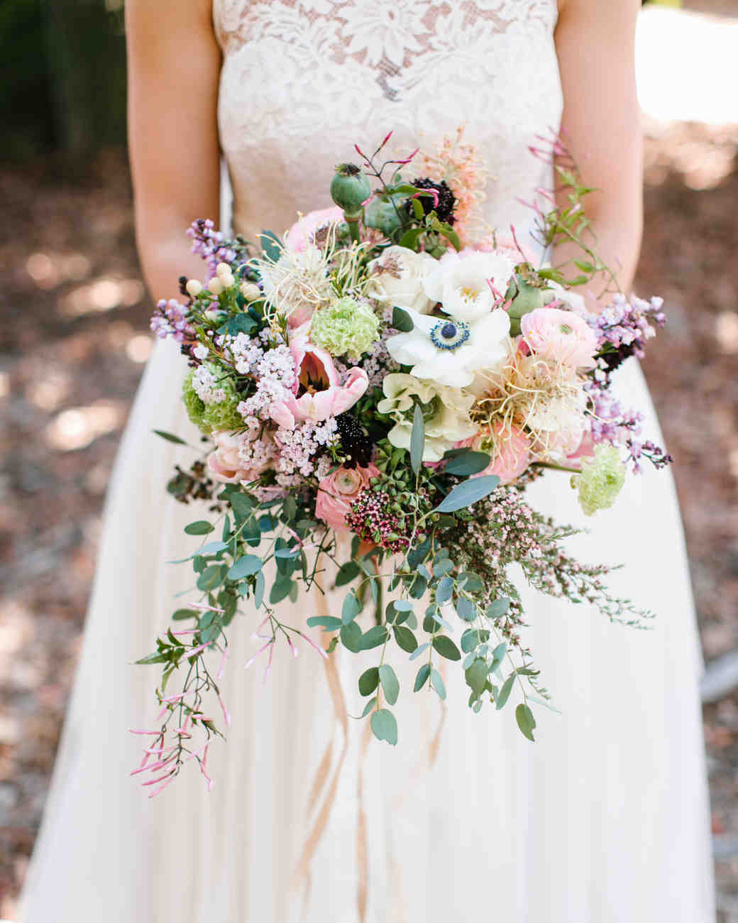 White, Pink, and Green Lilac Bouquet