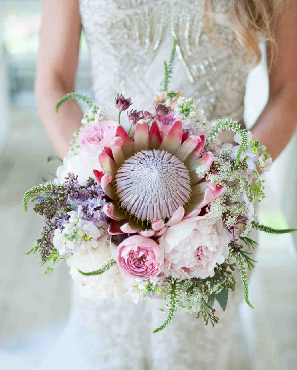 Pink and White Lilac Bouquet