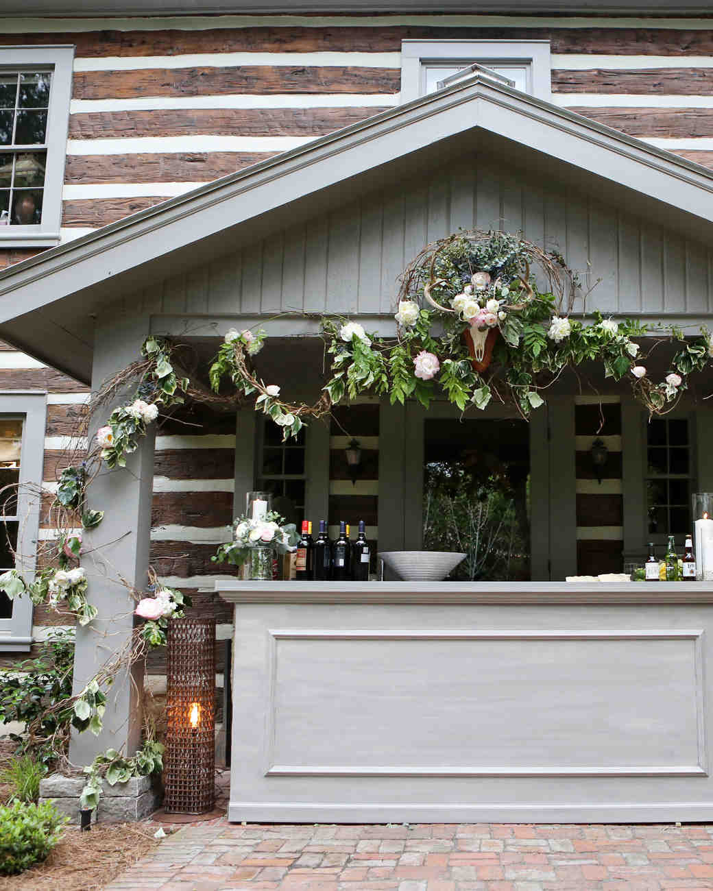 Wedding Bar Attached to Cabin Home