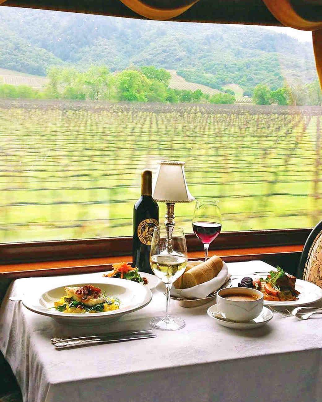 napa valley bachelorette wine train