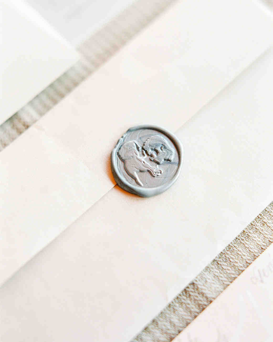 Silver Wedding Stationery Seal