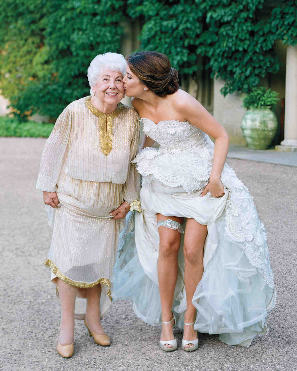 Bride Surprises Grandmother By Wearing Her Wedding Dress: The Bride Wore Blue At This Connecticut Wedding