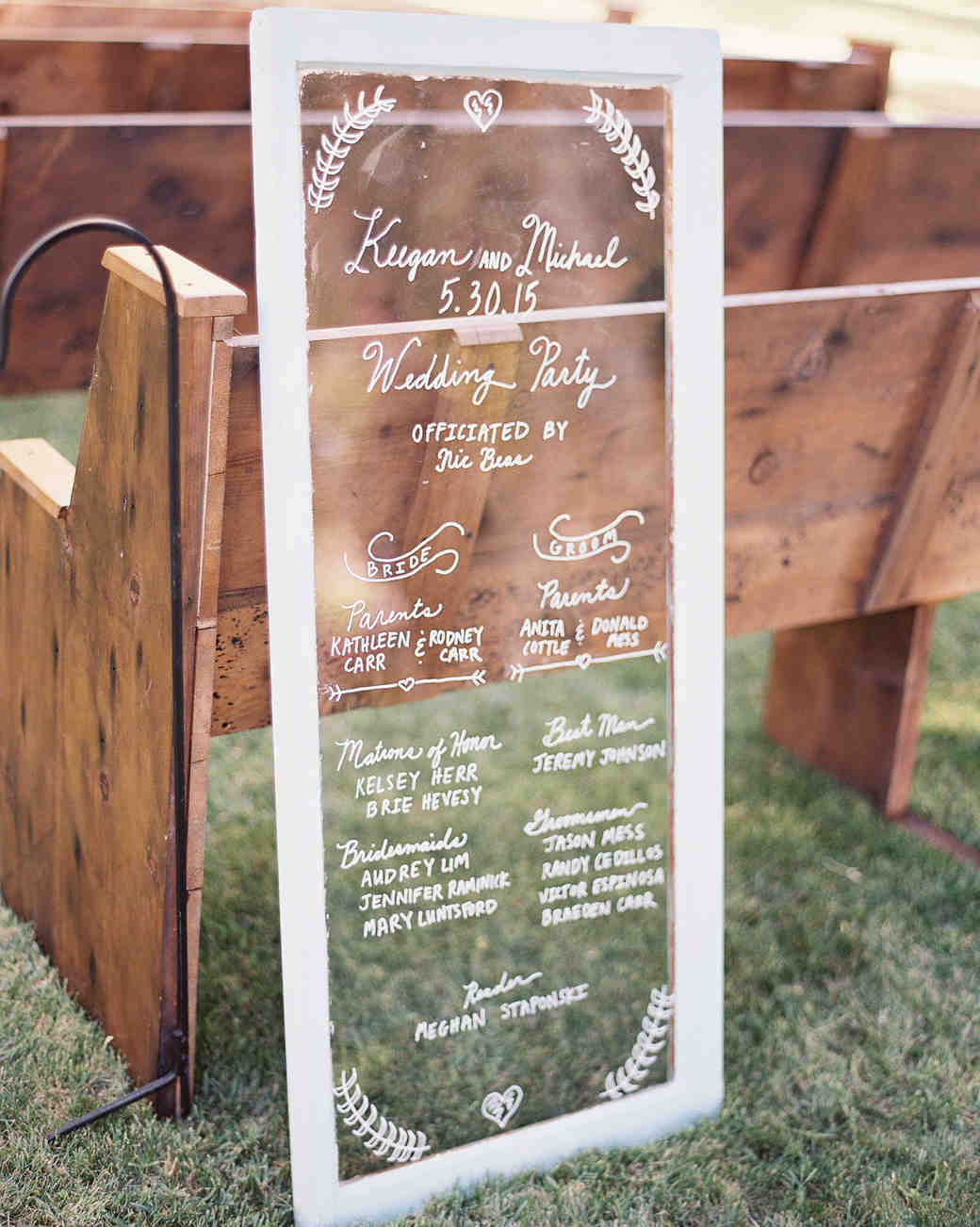 Ceremony Program Window Pane