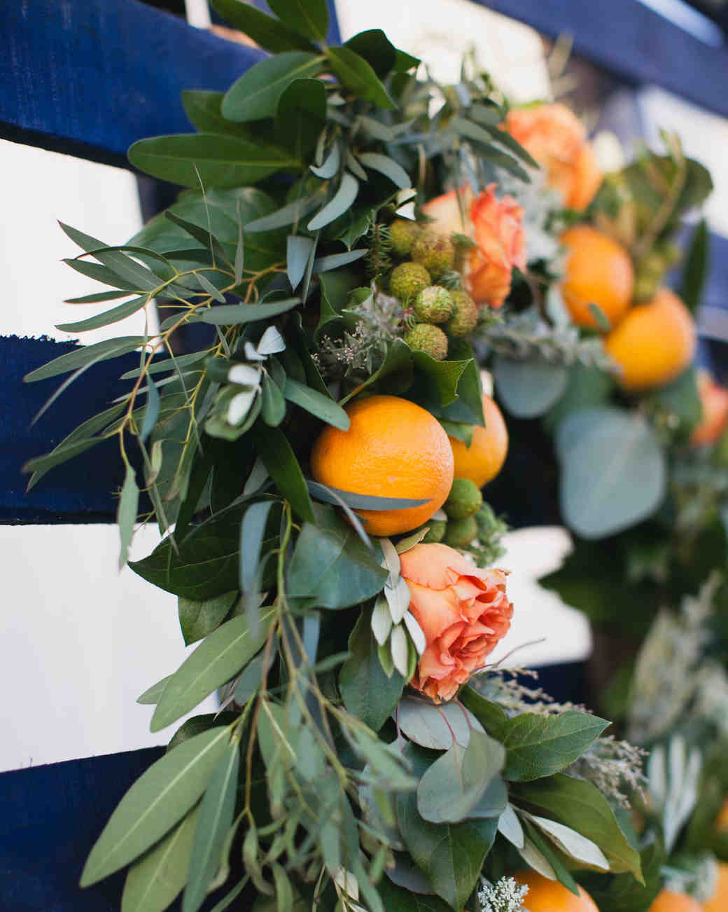 wreath with oranges