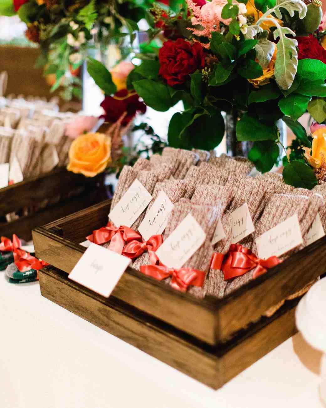 sock wedding favors