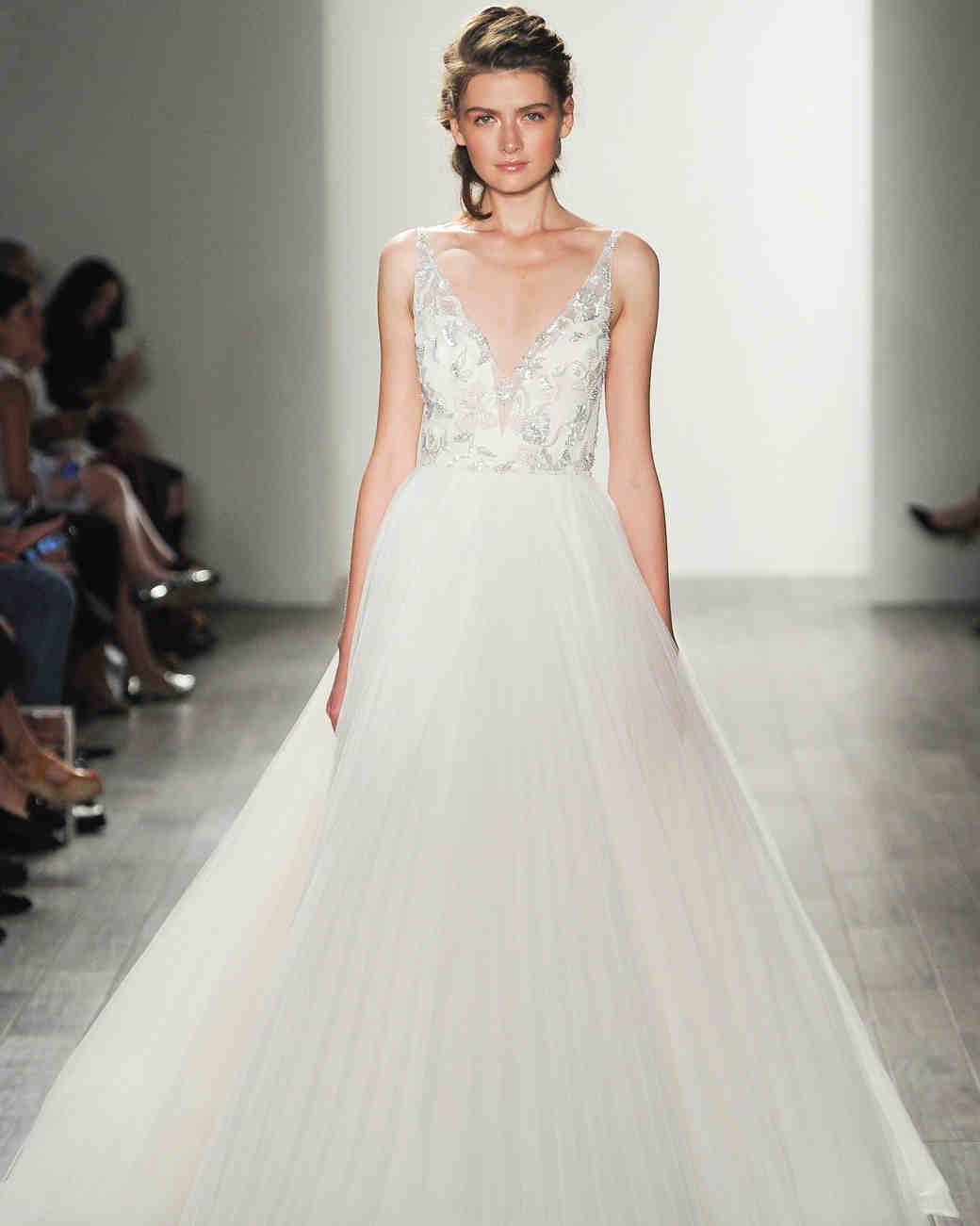 With Lazaro Wedding Dress Designer
