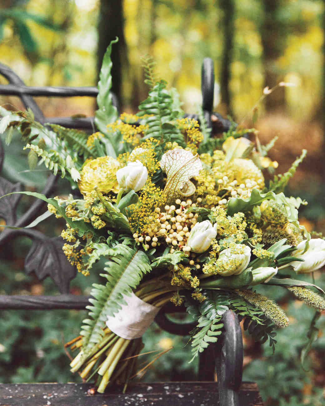Wild Yellow Wedding Bouquet