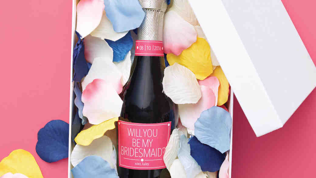 "How to ""Pop"" the Question to Your Bridesmaids with Champagne!"