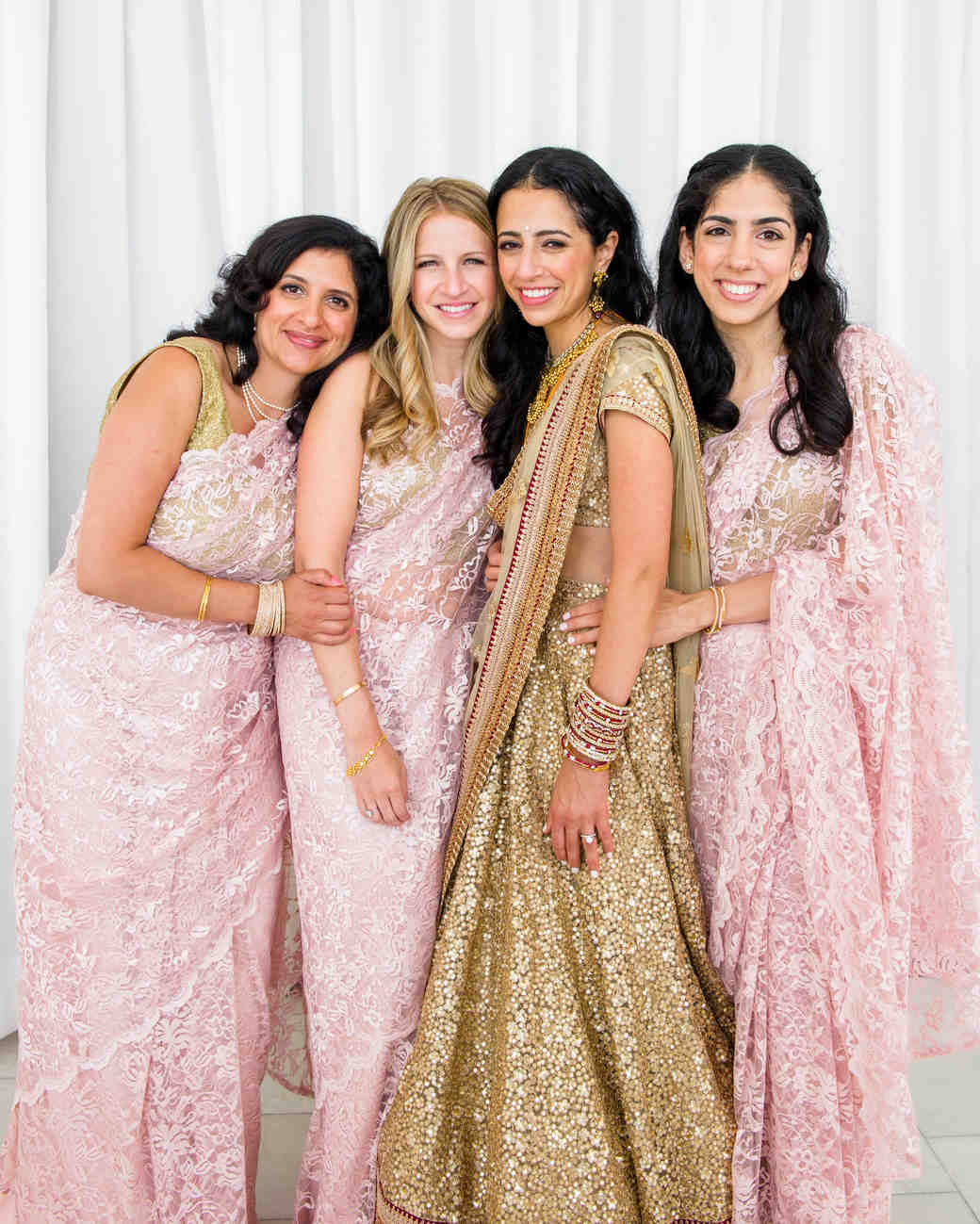 Indian Bride and Her Bridesmaids