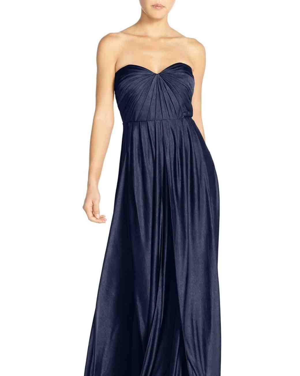 Navy blue bridesmaid dresses martha stewart weddings for Navy dresses for weddings