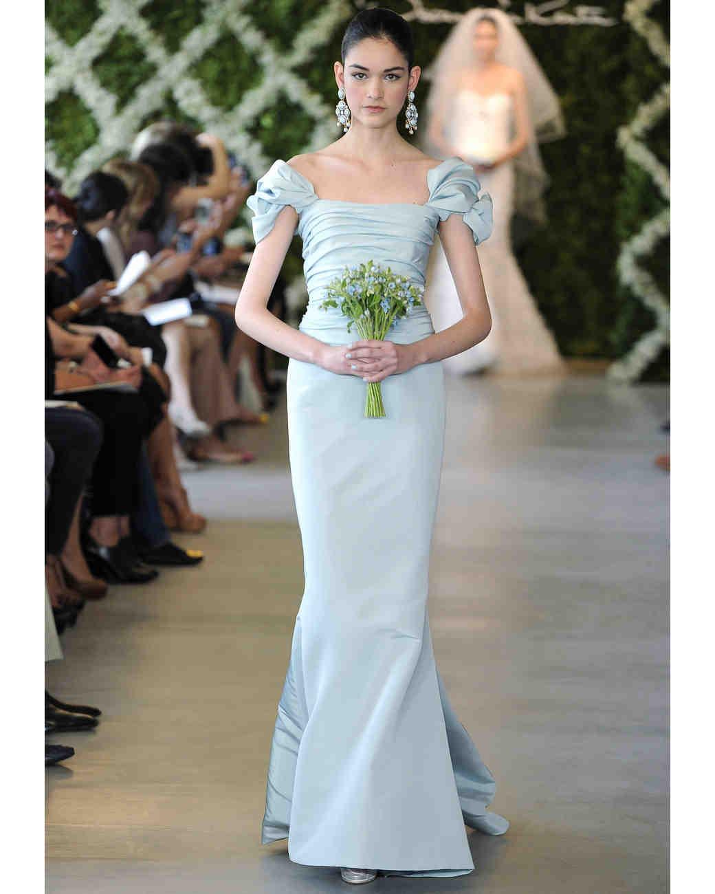 Blue Wedding Dresses Spring 2013 Bridal Fashion Week Martha Stewart Weddings