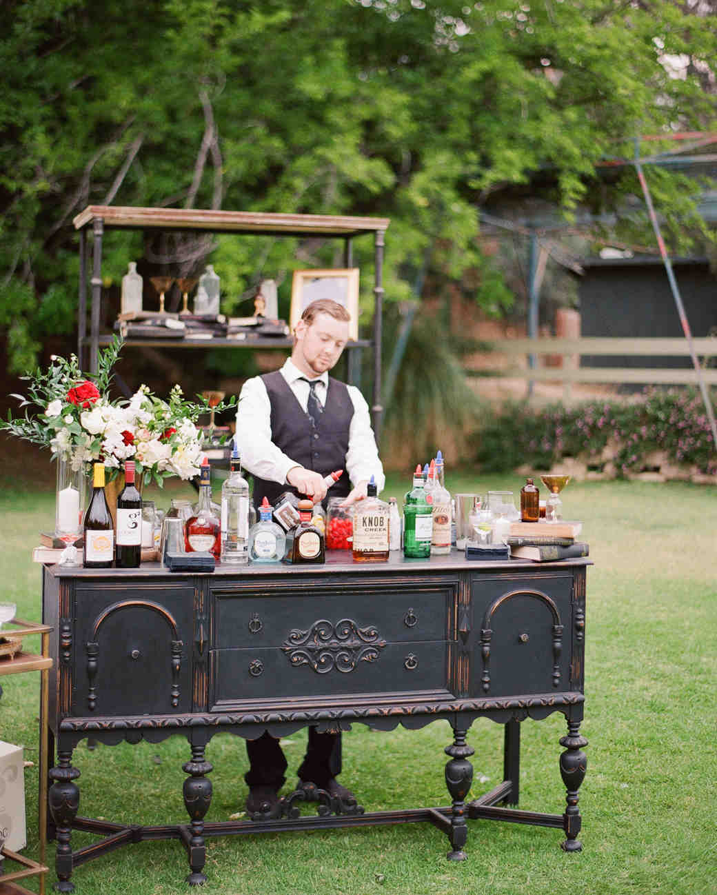 Vintage Furniture Wedding Bar