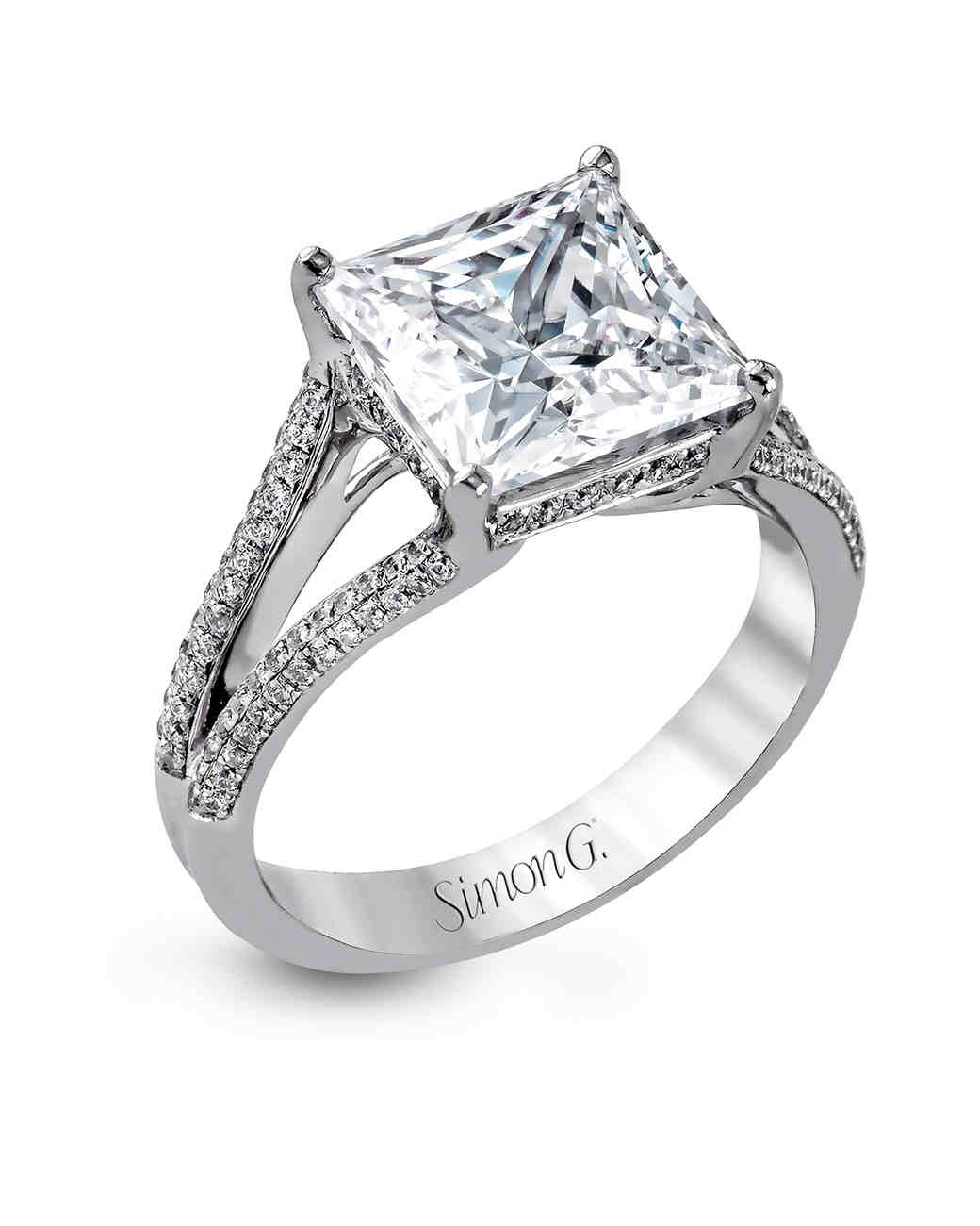 Simon G. Princess-Cut Engagement Ring