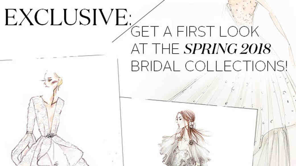 Spring 2018 Bridal Fashion Week Sketches