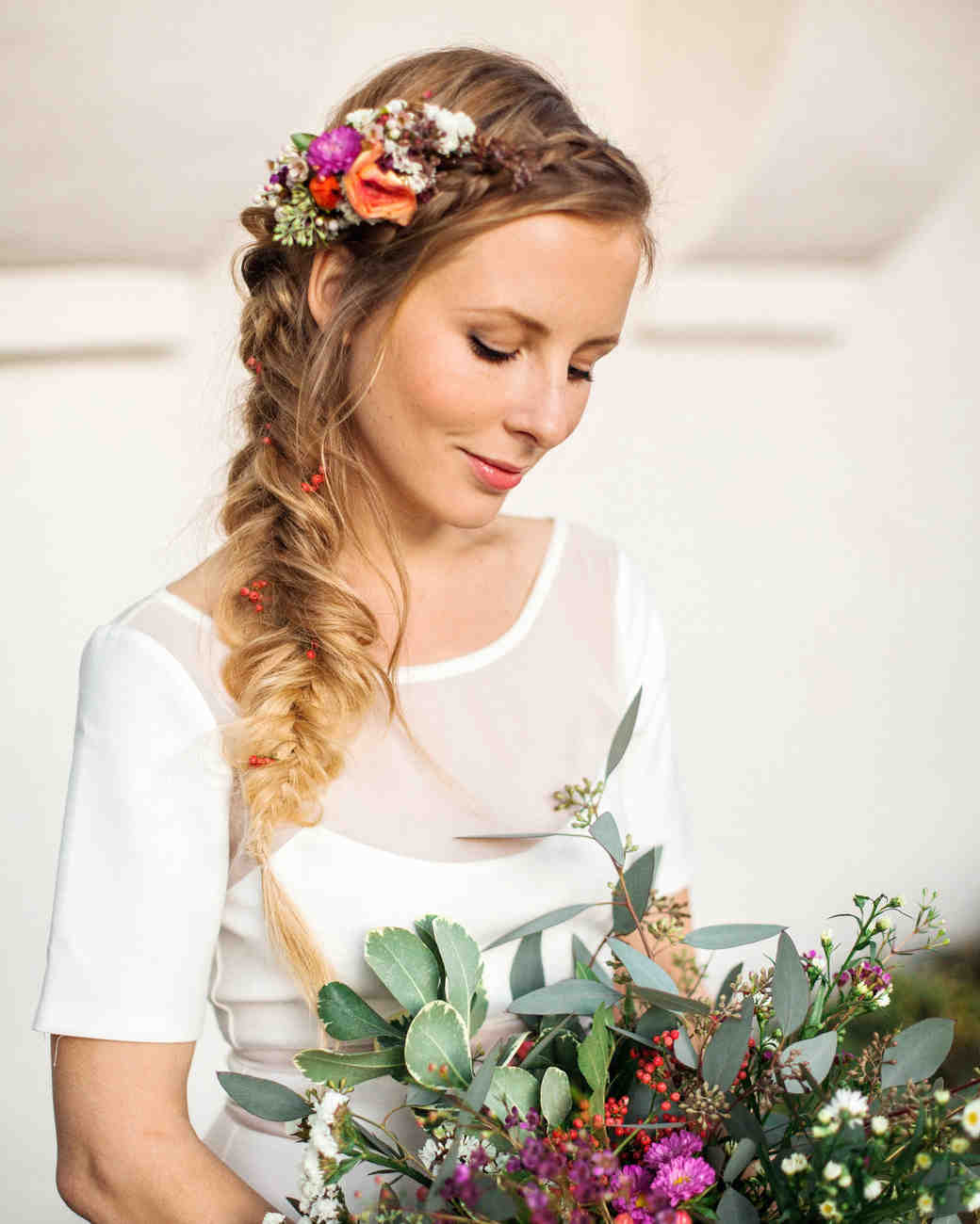 Wedding Hairstyle With Braids: Boho-Chic Wedding Ideas For Free-Spirited Brides And