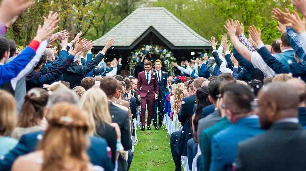Tom Daley and Dustin Lance Black Walking Down the Aisle